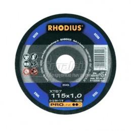 Δισκος κοπης μεταλλου Φ115x1mm RHODIUS XT67