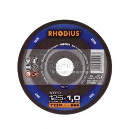 Δισκος κοπης μεταλλου Φ125x1mm RHODIUS XT20