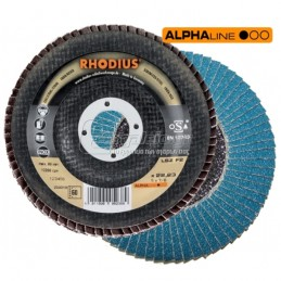 Δισκος λειανσης φτερωτος Φ115mm (K80) RHODIUS LSZ-F2
