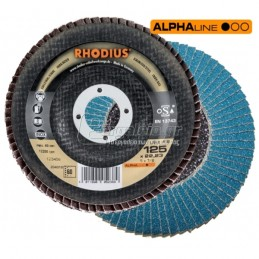 Δισκος λειανσης φτερωτος Φ125mm (K24) RHODIUS LSZ-F2