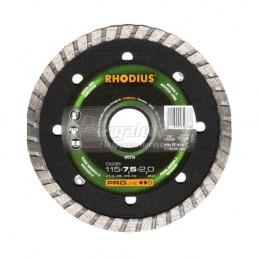 Διαμαντοδισκος δομικων υλικων Φ115x2.0mm RHODIUS DG35