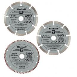 Σετ διαμαντοδισκοι Φ125mm 3τμχ EINHELL 4440337