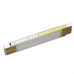 Μετρο σπαστο ξυλινο 2m STANLEY (ασπρο/κιτρινο) 0-35-458