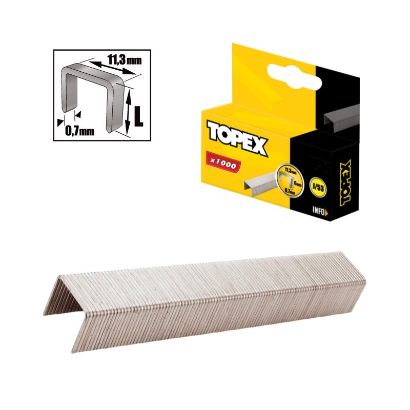 Διχαλο τυπου J 10mm για 41E906 1000τμχ TOPEX 41E310