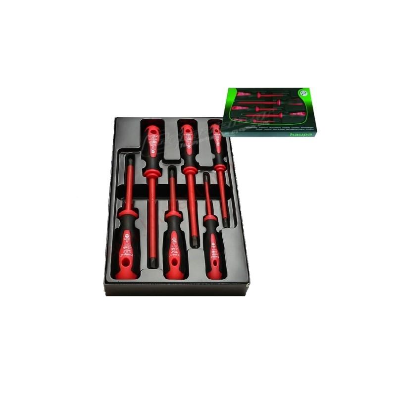 Σετ κατσαβιδια ηλεκτρολογου 6τεμ. 1000V HAUPA 101999
