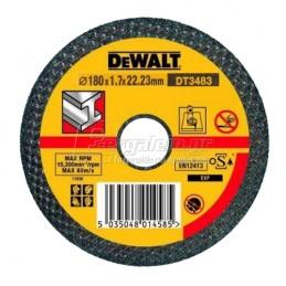 Δισκος κοπης μεταλλου Φ180x1.7mm DEWALT DT3483