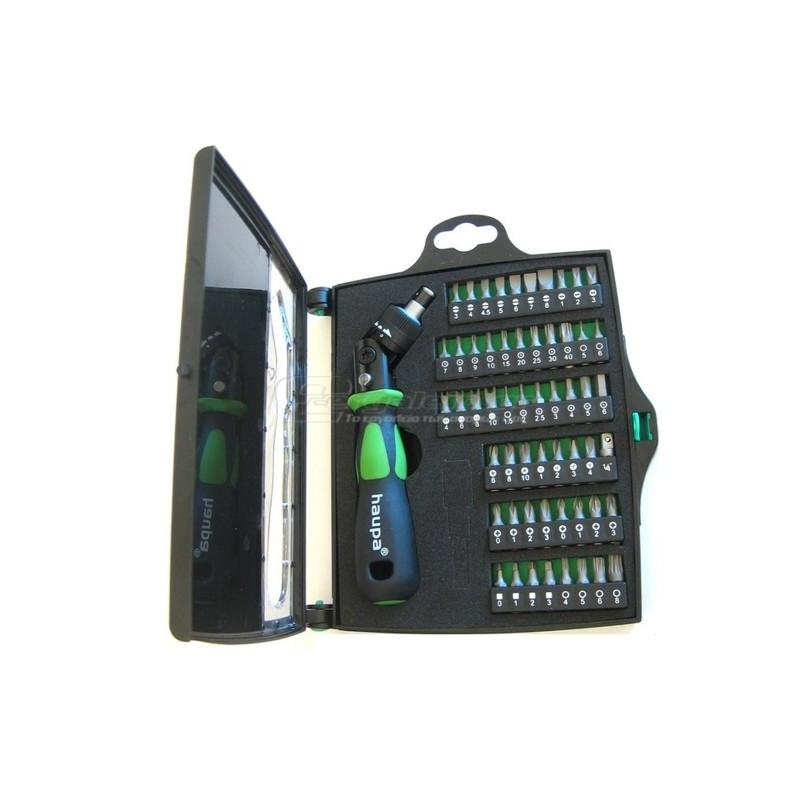 Κατσαβιδι καστανιας με εξαρτηματα 55τεμ. HAUPA 104006