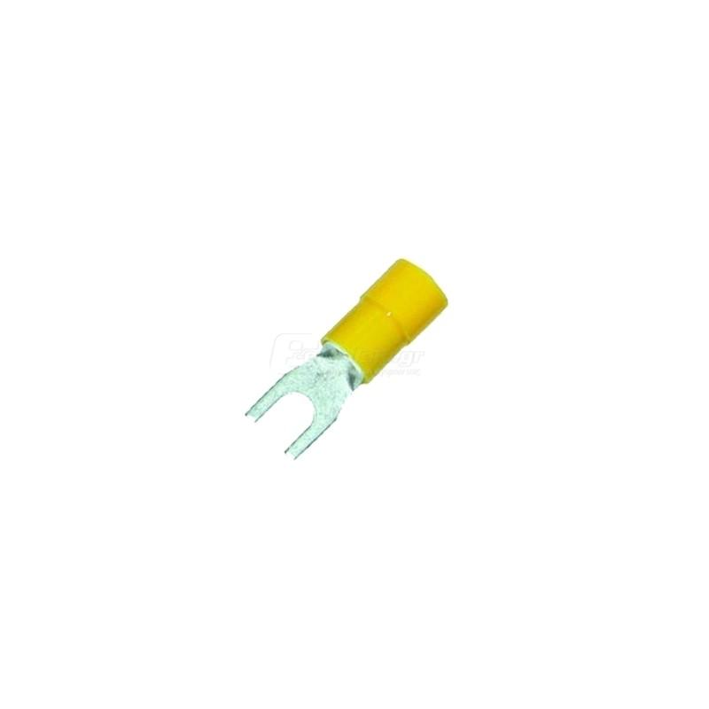 Ακροδεκτης κως διχαλο μονωμενος M5 4.0-6.0mm HAUPA 260322 100τεμ