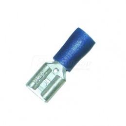 Ακροδεκτης φαστον θηλυκο μονωμενος 6.3mm HAUPA 260394 100τεμ.