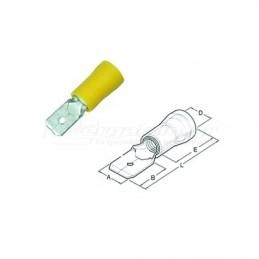 Ακροδεκτης φαστον αρσενικο μονωμενος 4.0x6.0mm HAUPA 260426