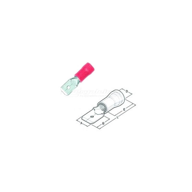 Ακροδεκτης φαστον αρσενικο μονωμενος 0.25x1.5mm HAUPA 260514