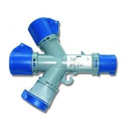 Βιομηχανικος ανταπτορας 3x16A-3T IP44 PCE 9432000