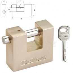 Λουκετο χυτοσιδερενιο 50mm TOPEX DeFort 90U330 (2 κλειδια)