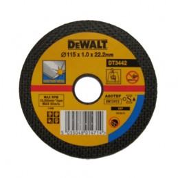 Δισκος κοπης ανοξειδωτου Φ115x1.2mm DEWALT DT42240