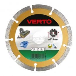 Διαμαντοδισκος δομικων υλικων Φ115x2mm VERTO 61H3S1 070692