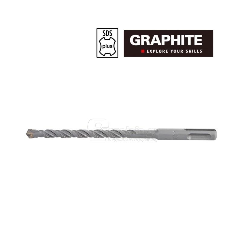 Τρυπανι τετρακοπο Φ 6x210mm SDS-PLUS TOPEX GRAPHITE 574107