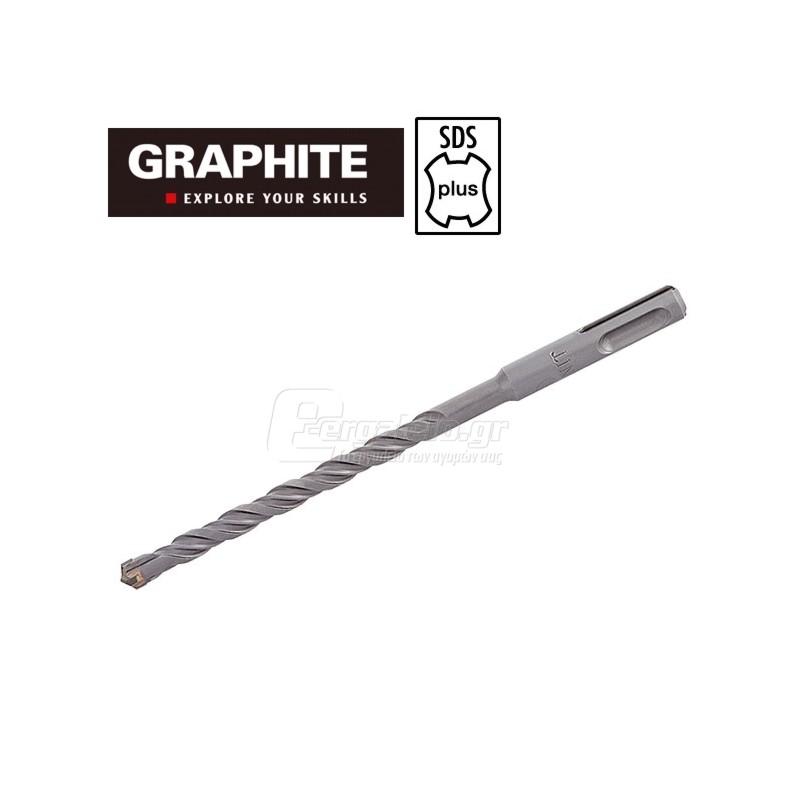 Τρυπανι τετρακοπο Φ12x210mm SDS-PLUS TOPEX GRAPHITE 57H440 574404