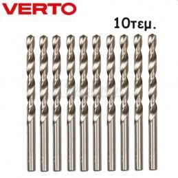 Τρυπανι μεταλλου 10τμχ Φ6x93mm HSS VERTO 60H082 600820