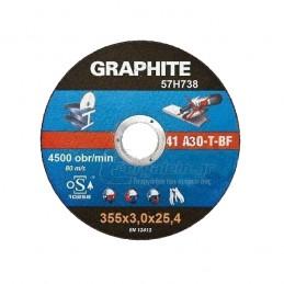 Δισκος κοπης μεταλλου Φ355x3mm TOPEX GRAPHITE 57H738
