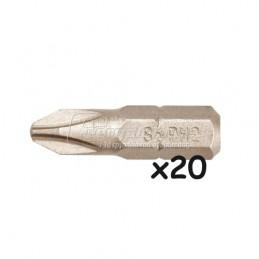 Σετ μυτες 20τεμ. 25mm PH2 TOPEX GRAPHITE 57H955