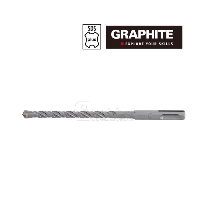 Τρυπανι τετρακοπο Φ 6x110mm SDS-PLUS GRAPHITE 574060