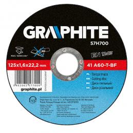 Δισκος κοπης μεταλλου Φ125x1mm GRAPHITE 57H707