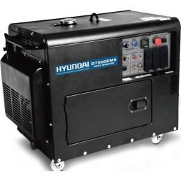 Γεννητρια πετρελαιου κλειστου τυπου 230V 7kVA HYUNDAI D7000EMS
