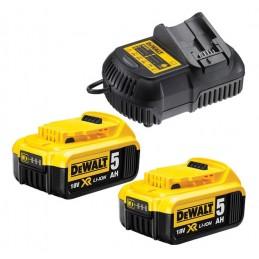 DEWALT DCB115P2 Φορτιστης 10.8-18V & 2x5.0Ah μπαταριες XR Li-ion