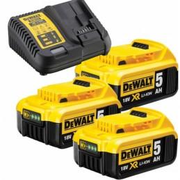 DEWALT DCB115P3 Φορτιστης 10.8-18V & 3x5.0Ah μπαταριες XR Li-ion