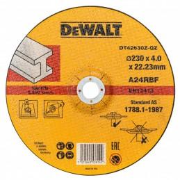Δισκος λειανσης-κοπης μεταλλου Φ230x4mm DEWALT DT42630Z