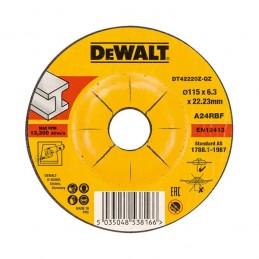 Δισκος λειανσης μεταλλου Φ115x6.3mm DEWALT DT42220Z
