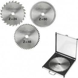 Einhell Σετ δισκοι φαλτσ/νου 3τμχ 250mm 24/48/60 δοντιων 4502133