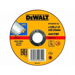Δισκος κοπης ανοξειδωτου Φ125x1.0mm DEWALT DT42340
