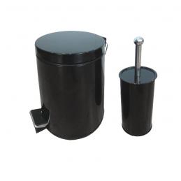 Σετ Δοχείο απορριμάτων 5L και πιγκάλ μαύρο BORMANN BTW2000 025818