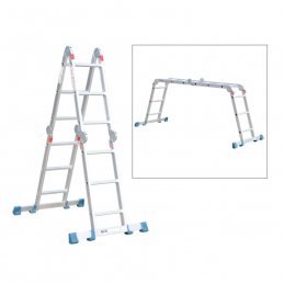 Σκαλα αλουμινιου πολυμορφικη με 12 σκαλια BORMANN PRO BHL5040 029601