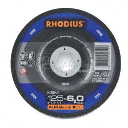 Δισκος λειανσης μεταλλου Φ125x6mm RHODIUS KSM125