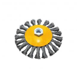 Συρματοβουρτσα στρογγυλη στριφτη 100mm με υποδοχη M14 FFGROUP 38691