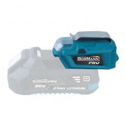 Ανταπτορας μπαταριας 20V USB-Φακος BORMANN PRO BBP1010 032779