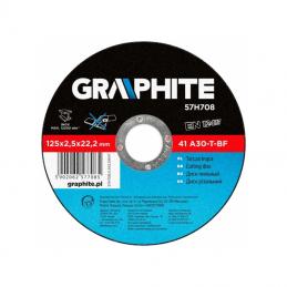 Δισκος κοπης ανοξειδωτου Φ125x2.5mm GRAPHITE 57H708 577085