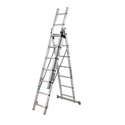 Σκαλα αλουμινιου τριπλη με 21 σκαλια BORMANN PRO BHL5080 029649