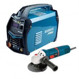 SET BORMANN PRO Ηλεκτροκολληση Inverter 200A BIW2100 με Γωνιακο τροχο 1010W BAG1300