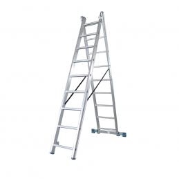 Σκαλα αλουμινιου διπλη με 18 σκαλια BORMANN PRO BHL5130 029694