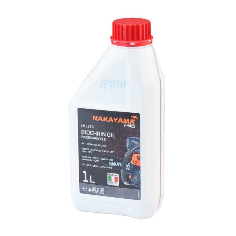 Λαδι αλυσιδας-λαμας αλυσοπριονου βιοδιασπωμενο 1lt NAKAYAMA PRO LB1150 035015