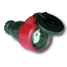 Φις (καουτσουκ) θηλυκο με καπακι 230V IP44 PCE 2512-SL