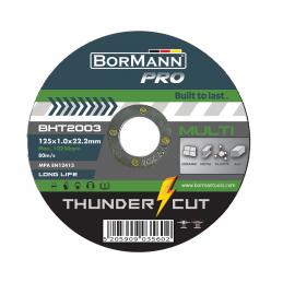 Δισκος κοπης πολλαπλων υλικων 125x1mm Thunder-Cut BORMANN PRO BHT2003 035602