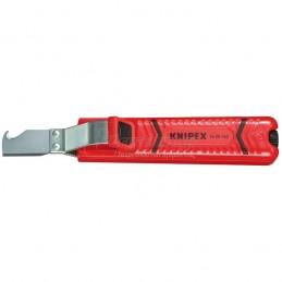 Μαχαιρι ηλεκτρολογου απογυμνωτης 8-28mm KNIPEX 1620165 SB
